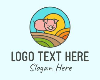 Pork - Pig Farm logo design