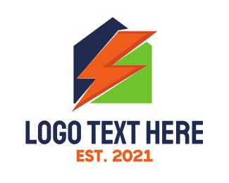 Thunderbolt - Power House logo design