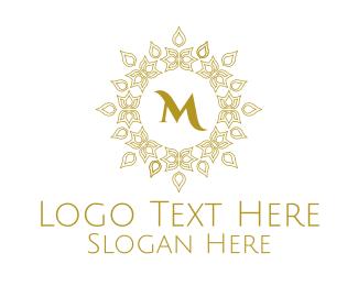 Quality - Luxurious Mandala Pattern Lettermark logo design