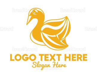 Designer - Golden Swan Outline  logo design