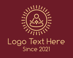Sunrise - Minimalist Buddhist Sunrise logo design