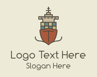 Destroyer - Cargo Ship logo design