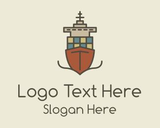 Cruise Ship - Cargo Ship logo design