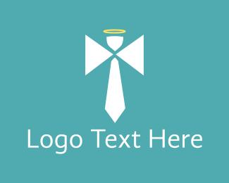 Heaven - Angel Tie logo design