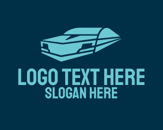 Futuristic Blue Car Logo