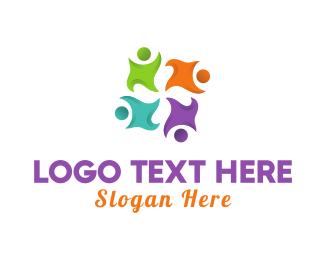 Crowd - Human Group logo design