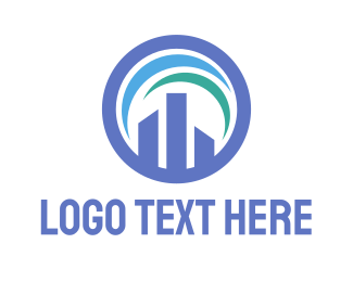 Infrastructure - Building Chart logo design