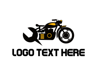 Motorcycle - Motorcycle Mechanic logo design
