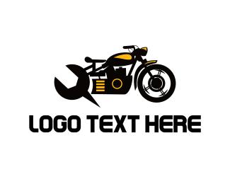 Motocross - Motorcycle Mechanic logo design