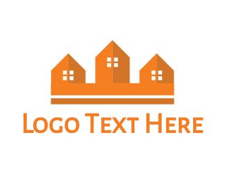 Village - House Crown logo design