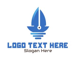 Sailing - Sail Boat Blade logo design
