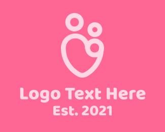 Pregnancy - Parenting Heart logo design