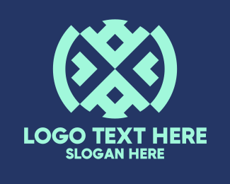 Tradition - Native Blue Textile logo design