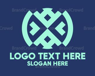 Traditional - Native Blue Textile logo design