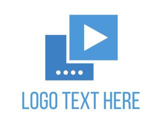 Tv - Blue Play logo design