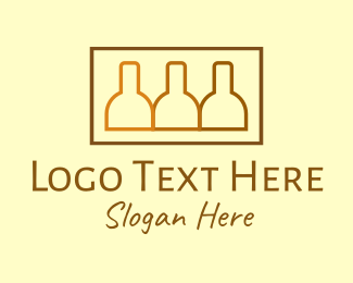 Beer Bottle - Brown Beer Bottle Stack logo design