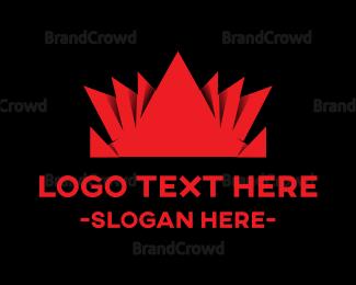 Crown - Origami Red Crown logo design