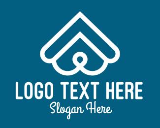 Nose - White Dog Snout & Roof logo design