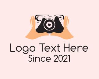 Photograph - Nature Photographer Hand logo design