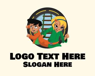 Animation - Children Adventure Cartoon logo design