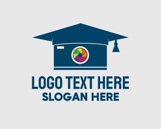 Phd - Graduation Photography Lens logo design