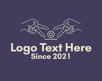 Peace - Finger Peace Sign Camera logo design