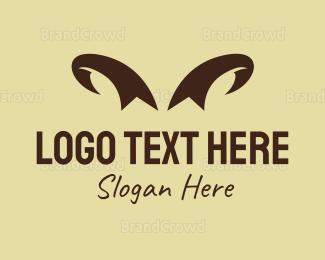 Lamb - Ribbon Horns logo design