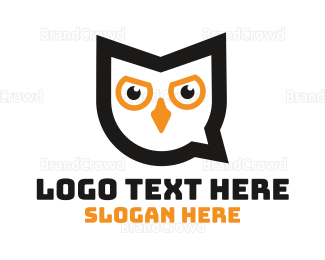 Chat - Owl Chat logo design