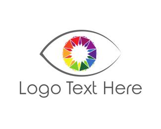 Iris - Colorful Eye logo design
