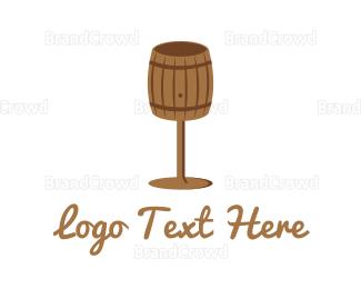 Cellar Door - Barrel Glass logo design