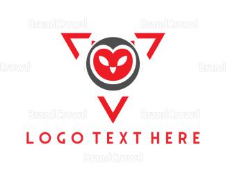 Triangle - Owl Triangle logo design