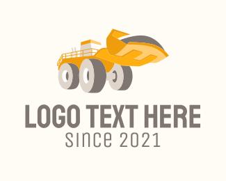 Excavator - Heavy Duty Bulldozer logo design
