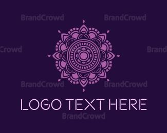 Spiritual - Mandala Yoga logo design