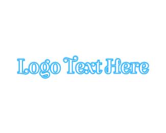 Curvy - Blue Curvy Outline logo design