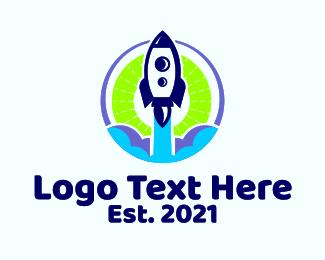 Space - Space Rocket Launch logo design
