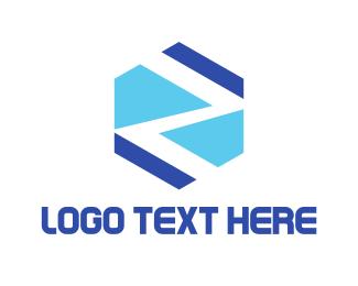 Zig Zag - Hexagonal Letter Z logo design