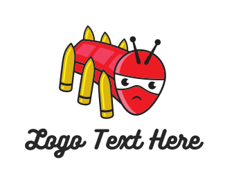 Gun - Insect Weapon logo design