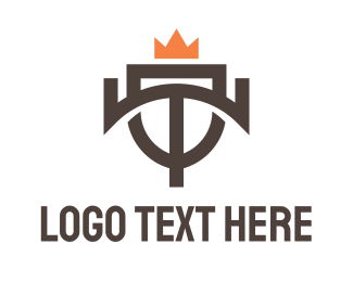 Expensive - Geometric T Crown logo design