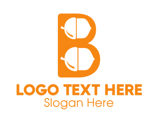 Nut - Orange Acorn B logo design