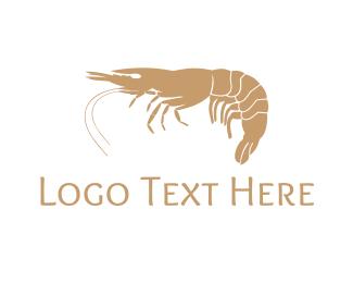 Dining - Gold Shrimp  logo design