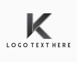 Film Production - Black Letter K logo design