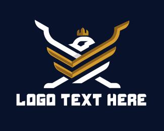 Emblem - Bird Emblem logo design