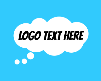 Speech Bubble - Comic Thought Bubble logo design