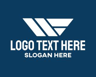 Geometric Shapes - Construction Letter W logo design