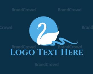 Goose - White Swan logo design