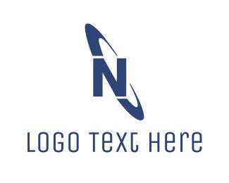 Ellipse - Ellipse Letter N logo design