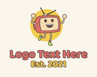 Actor - Television Media Mascot logo design