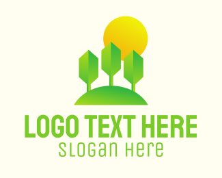Three Dimension - Eco Park Sunset logo design