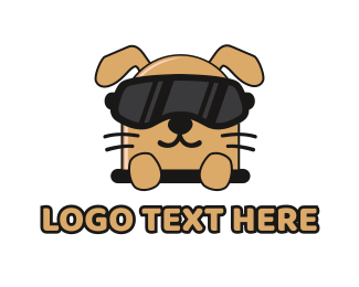 Characater - Puppy VR Gaming logo design