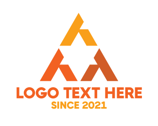 Event Space - Orange Triangular Star logo design